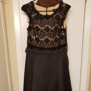 Black and Beige Formal Dress